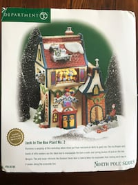 LIKE NEW - North Pole Series - Village - Jack in the Box with Lights Whitby