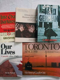 History books and textbooks, 8$ each Toronto, M2N 0A5