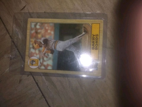 1987 Barry Bonds Rookie Card Error Numbers