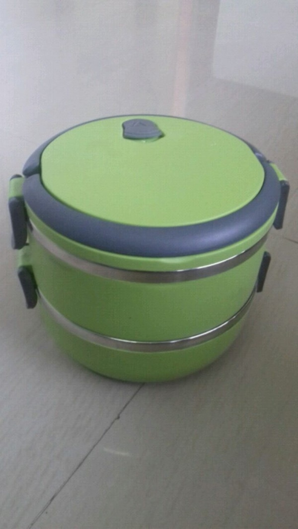 green and black plastic container