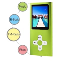 "MP3 MP4 Player with a 16 GB Micro SD card, Support UP to 32GB TF Card, Portable Digital Music Player / Video / Media Player / FM Radio / E-Book Reader, Ultra Slim 1.7"" LCD Screen, Plantation, 33322"