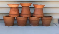 Clay flower pots & saucers