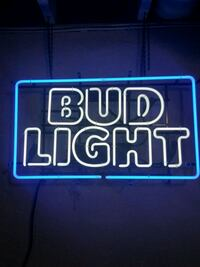 blue and white Bud Light neon light signage Hastings, 68901