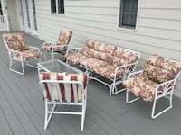 5 piece metal patio set Bluemont, 20135