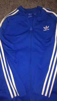 blue adidas zip up sweater  Winnipeg, R2V 4H3
