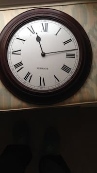 round brown and white newgate analog wall clock Dover, 19904