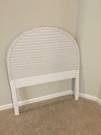 White Wicker Twin Headboard Potomac, 20854