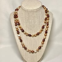 Chocolate Baroque Pearl Necklace Ashburn