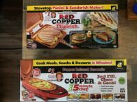 Red Copper Flipwich & 5minute Chef (NEW IN BOXES)