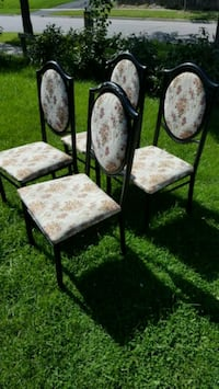 two brown wooden framed white padded chairs Toronto, M1E 4G1