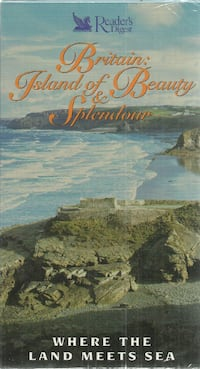 vhs Britain: Where The Land Meets The Sea Brtiain Island of Beauty & Splendour  Brand New - sealed Newmarket