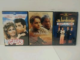 Three assorted Blu-ray disc cases