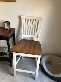 Two white bar stools with wood seat Fairfax, 22030