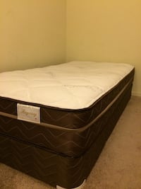 Twin bed with metal frame