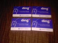 four $5 ding gift cards