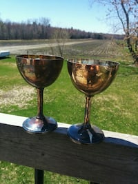 Silver plated Brass Viking Goblets. Made in Canada Clarence-Rockland, K0A 1E0