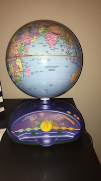 blue and yellow desk globe Vaughan, L4K
