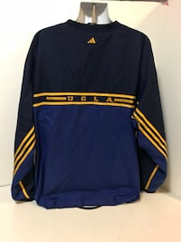 Vintage Adidas Team Original UCLA Bruins Basketball Warm Up Pullover Jacket XXL Long Beach, 90804