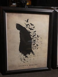 Batman begins poster / canvas framed