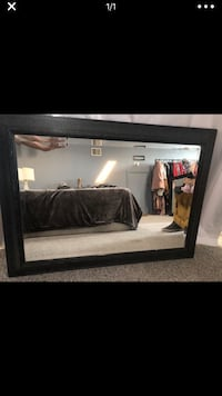 rectangular black wooden framed mirror 2377 mi
