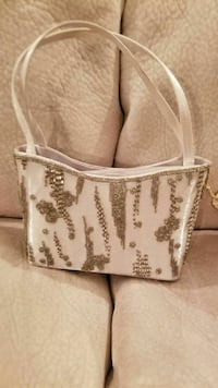 White party purse