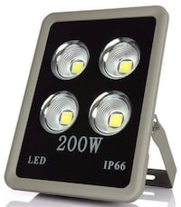 Flood Light, 200W Security Fixtures 4 COB Led Chips 200 Watt Equivalent 12000lm, Daylight White 6500K, Waterproof IP66 Outdoor Indoor Security Light(No Plug) Monmouth Junction, 08852