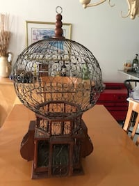 """Unique and Beautiful Hand made Wrought Iron Bird Cage.  Measures about 34"""" tall & 18"""" W Pembroke Pines, 33026"""