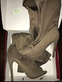 Taupe knee high heel boot  Silver Spring, 20906