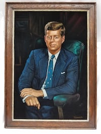 Very well preserved President John F. Kennedy Portrait on Velvet 1970  no fading Gaithersburg