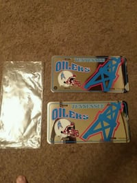 2 Authentic Tennessee Oilers license plate decor Kingsport, 37664