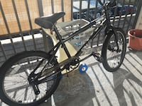 black and gray BMX bike