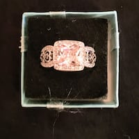 Man's or Woman's gorgeous Pink Ring, SZ 9 Sparks, 89441