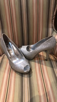 Silver open toe heels (worn once)  Toronto