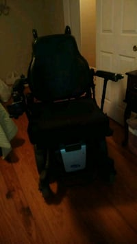 black and gray electric wheelchair
