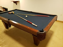 Billiard pool table with extras