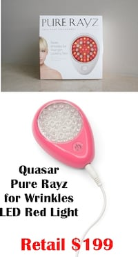 Quasar Pure Rayz Anti-Aging Collagen Boosting LED Red Light Tool Glenarden