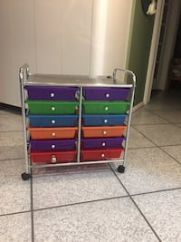 12 drawer organizer cart on wheels 266 mi