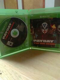 Payday The Big Score Xbox one game disc in cas e