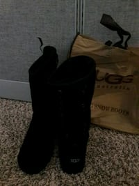 pair of black suede boots Gilbert, 85233
