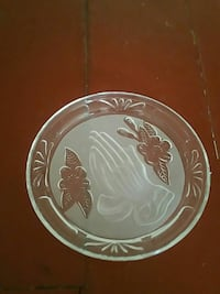 Round brown and gray glass decorative plate Newport News, 23607
