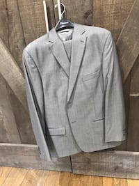 Light grey wool and silk Moores Suit 514 km