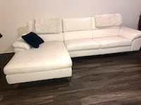 White leather 3-seat sofa ; dining set seats 6 and queen bedroom Doral, 33122