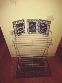 Shoe stand/wall decor/placemat