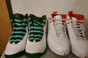 Air jordan Retro 10 and Rerto 12
