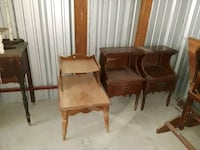 brown wooden framed padded armchairs Kennedale, 76060