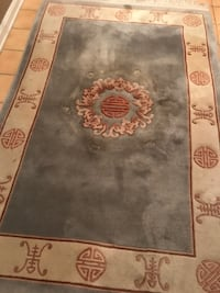 Chinese Classic Vintage 4x6 Hand-knotted 100% Wool Rug Laurel