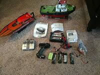 Rc boats charger and accessories.