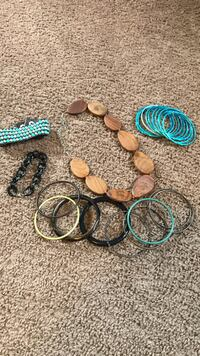 bangles and necklace lot