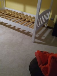 brown wooden bed frame with mattress Lockport
