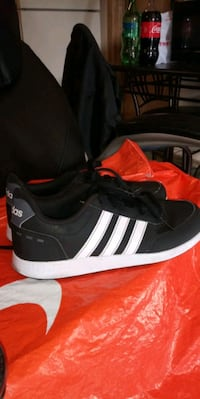 pair of black-and-white Adidas sneakers Las Vegas, 89121